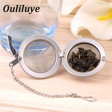 1PCS Stainless Steel Tea Mesh Infuser Strainer Gadget Ball for Teakettle Filter Kitchen Drinkware