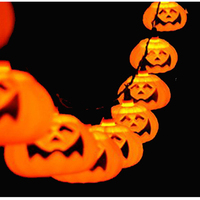 Hot Sale 3M Halloween Pumpkin String Lights Halloween Props Decorations Supplies Home Party Decor B0