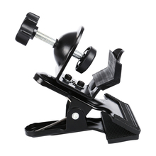 1 Piece Multi-Functional Black Clamp Clip Holder with U-Clamp for Photography Studio Shooting Light Stand Tripod Boom Arm