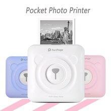 Карманный фотопринтер Мини Мобильный принтер печатающий фотографии с телефона портативный принтер для Android, iOS и Windows