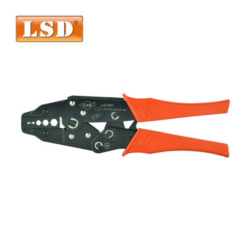 LS-05H coaxial pince à sertir RG55 RG58 RG59 coaxial à sertir SMA/BNC connecteurs à sertir outil en acier au carbone à cliquet à sertir outil