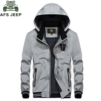 AFS JEEP Brand Military Hooded Hoodies Jacket Men jaqueta masculina Plus Size 3XL Casual Outerwear Mens Jacketsveste homme