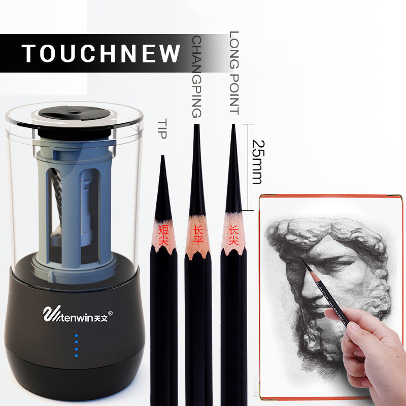 все цены на Hot Electric Dual Purpose Multifunction Automatic Art Learning Sketch Pencil Electronic Sharpener WJ-XXWJ381- Best