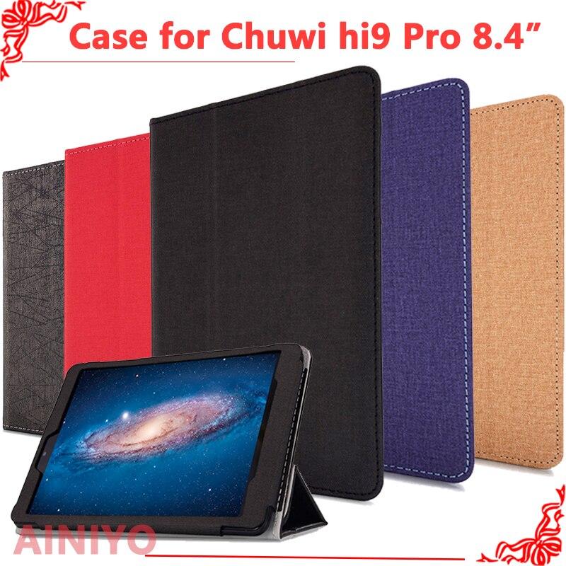 Caso de la cubierta protectora para CHUWI Hi9 pro Tablet PC nuevo caso de moda para chuwi hi9 pro 8,4 pulgadas Tablet PC + gratis película regalos