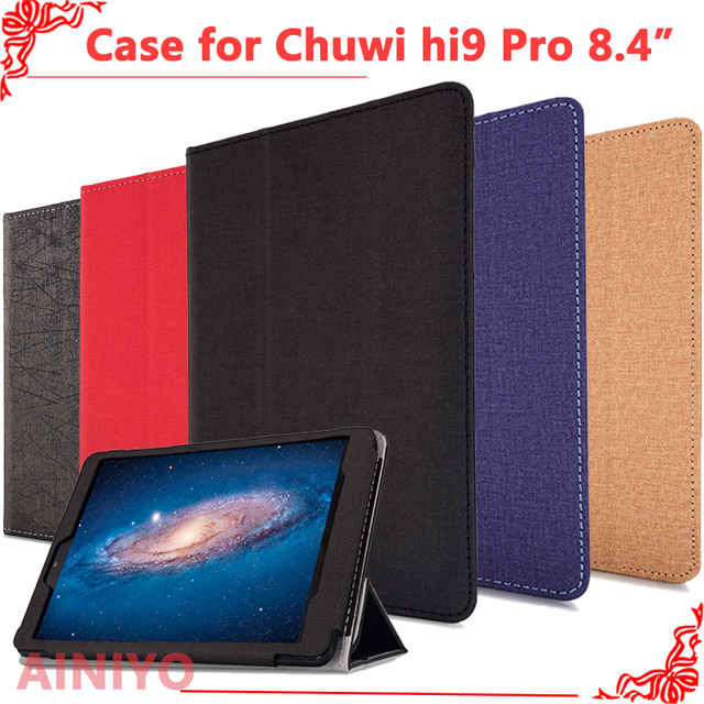 Chuwi hi9 pro 태블릿 pc 용 보호 커버 케이스, chuwi hi9 pro 8.4 인치 태블릿 pc + 무료 필름 선물용 최신 패션 케이스