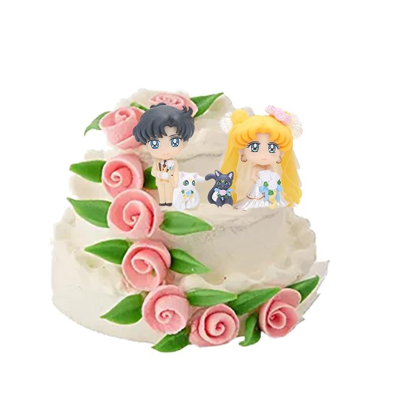 Outstanding Sailor Moon Wedding Cake Topper Personalised Birthday Cards Beptaeletsinfo