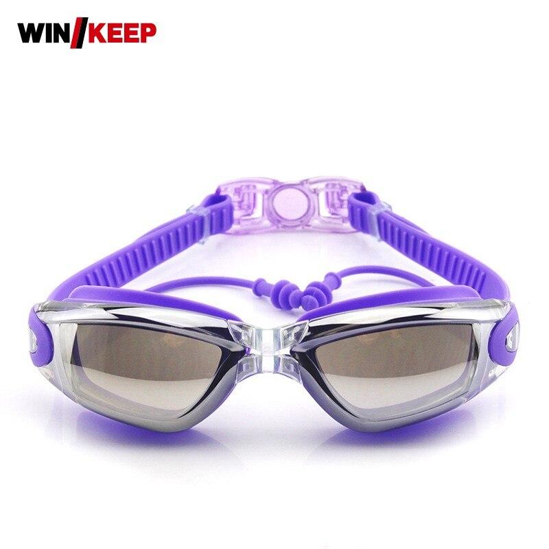 Мужские и женские водонепроницаемые противотуманные очки для плавания с защитой от ультрафиолета 2019, Регулируемый силиконовый для бассейна, очки для плавания с гальваническим покрытием, очки для плавания