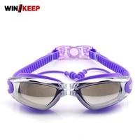 Women Men Swim Glasses Anti Fog Waterproof UV Protection 2019 Pool Adjustable Silicone Electroplate Swim Eyewear Piscine Goggles