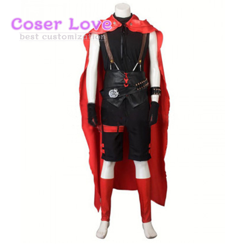 RWBY Red Ruby Rose Male Cosplay Carnaval Costume New Years Christmas Costume