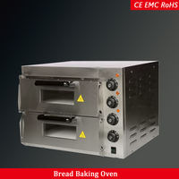 Commercial kitchen electric bakery oven bread baking oven 2 deck 40L capacity 220V/110V