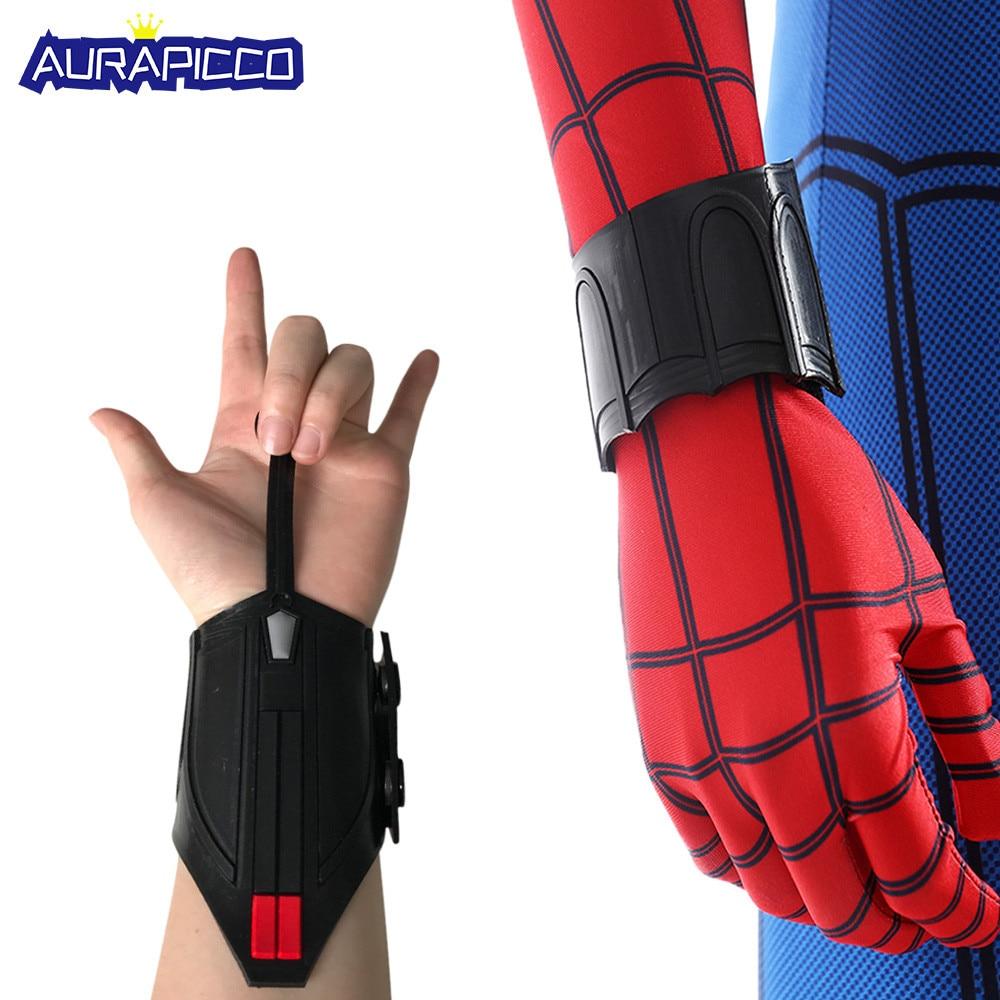Spider-Man Homecoming Cosplay Spiderman Peter Parker Super-héros Web Shooter