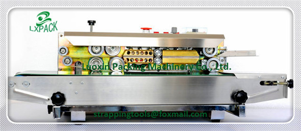 LX-PACK verticle continuous heat sealing machine/bag sealer Continuous Plastic Bags/Film Sealing Machine/Heat plastic bag sealer free ship to house continuous aluminum paper plastic bag package machine band sealer horizontal heating film sealing machine