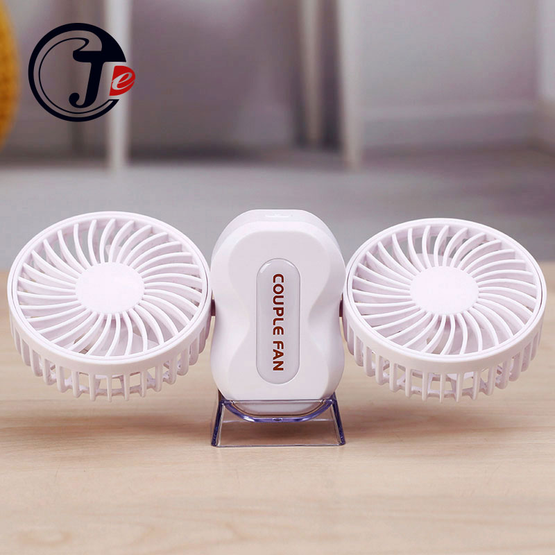 High Quality Mini Fan USB Fan Laptop Cooling Portable 350 Degree USB Cooler Silent Desktop Fan With Double Side 1200mAh Battery