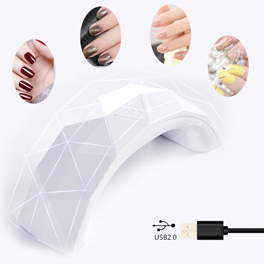 MayCreate 9W Nail Dryer LED Lamp For Nails Gel Polish Curing UV Light Machine Art Tools Manicure With 30s Timer