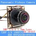1.0MP Câmera Panorâmica Fisheye Lente de 360 Graus Vista 720 P AHD Câmera IR ODS/Cabo BNC