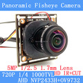1.0MP Panoramic Camera Fisheye Lens 360 Degree View 720P AHD Camera IR  ODS/ BNC Cable