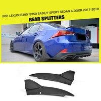 Углеродного волокна/FRP задний бампер сплиттеры Чин губы фартуки Cupwings клапанами для Lexus IS F Sport Седан 4 двери только 2017 2018