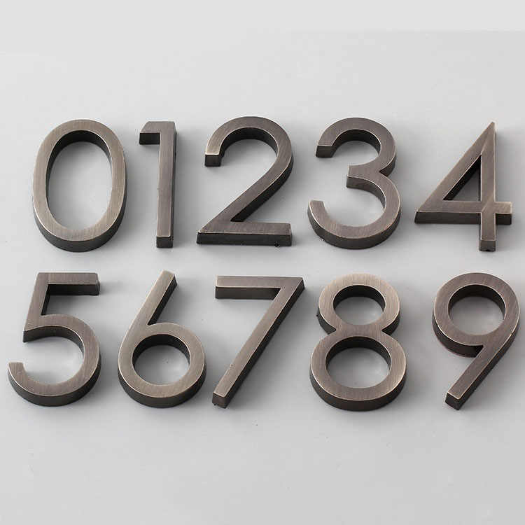 Stainless steel material 6CM digital 0-9 hotel anti-drawing stainless steel building door number floor number hotel number