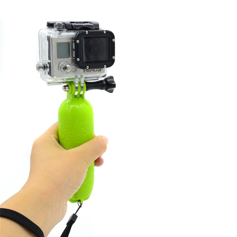 Go pro Floaty Floating Bobber Hand Grip Handle Mount Float+Screw+Wrist Strap for Gopro Hero 5 4/3+/3/2/SJ4000/Xiaoyi Camera ...