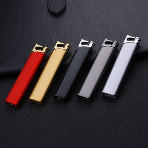 Image 2 - Compact Jet Butane Lighter Torch Turbo Gas Cigarette 1300 C Fire Windproof Stripe Pipe Lighter No GAS