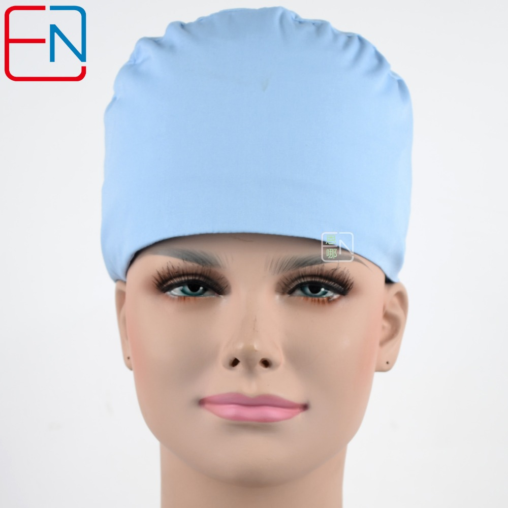 Hennar Surgical Caps For Doctors And Nurses Caps,T/C Scrub Caps In Light Grey Blue