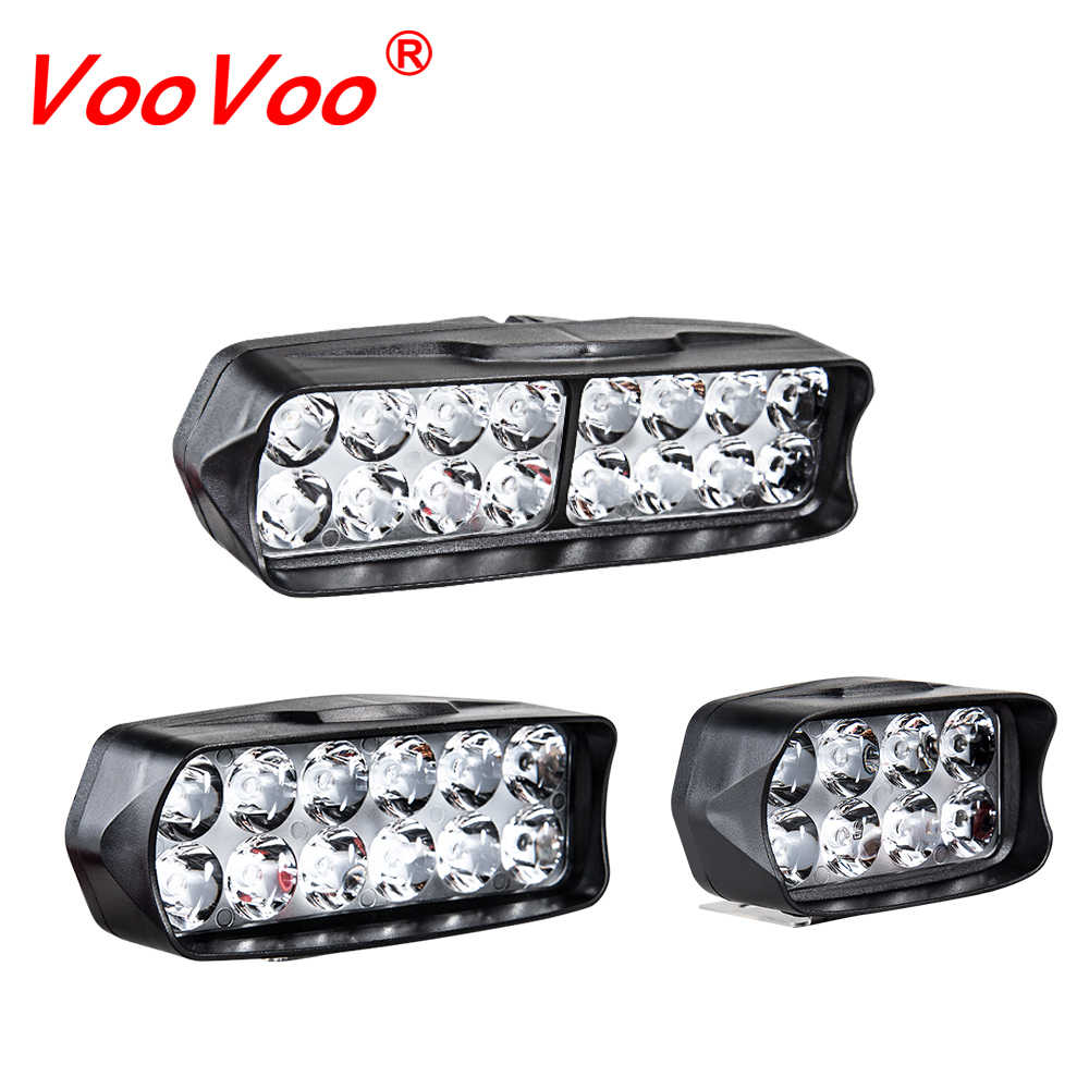 VooVoo Motorcycle LED Headlight Scooter ATV Moto Headlamp Spotlight 12V LED 6500K Motorbike Spot Head Light Working Lamp DRL