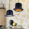 2 pçs/lote 110 v/220 v Top Hat Luzes Pendentes luz Chapéu de alumínio para Cozinha Criativa D26cm * H17cm Luminária para Bar café