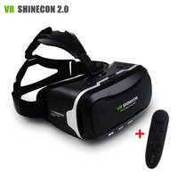 New VR Shinecon II 2 0 Helmet Cardboard Virtual Reality Glasses Mobile Phone 3D Video Movie