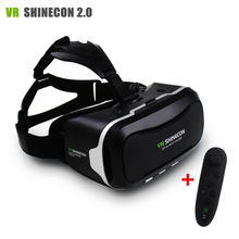 Nouveau vr shinecon ii 2.0 casque carton réalité virtuelle lunettes mobile téléphone 3d vidéo film pour 4.7-6.0 «Smartphone avec Gamepad