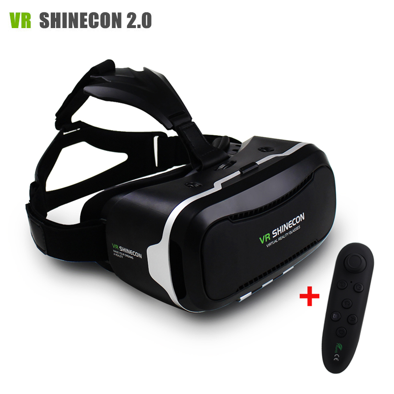 "New VR Shinecon II 2.0 Helmet Cardboard <font><b>Virtual</b></font> <font><b>Reality</b></font> <font><b>Glasses</b></font> <font><b>Mobile</b></font> <font><b>Phone</b></font> 3D Video Movie <font><b>for</b></font> 4.7-6.0"" Smartphone <font><b>with</b></font> Gamepad"