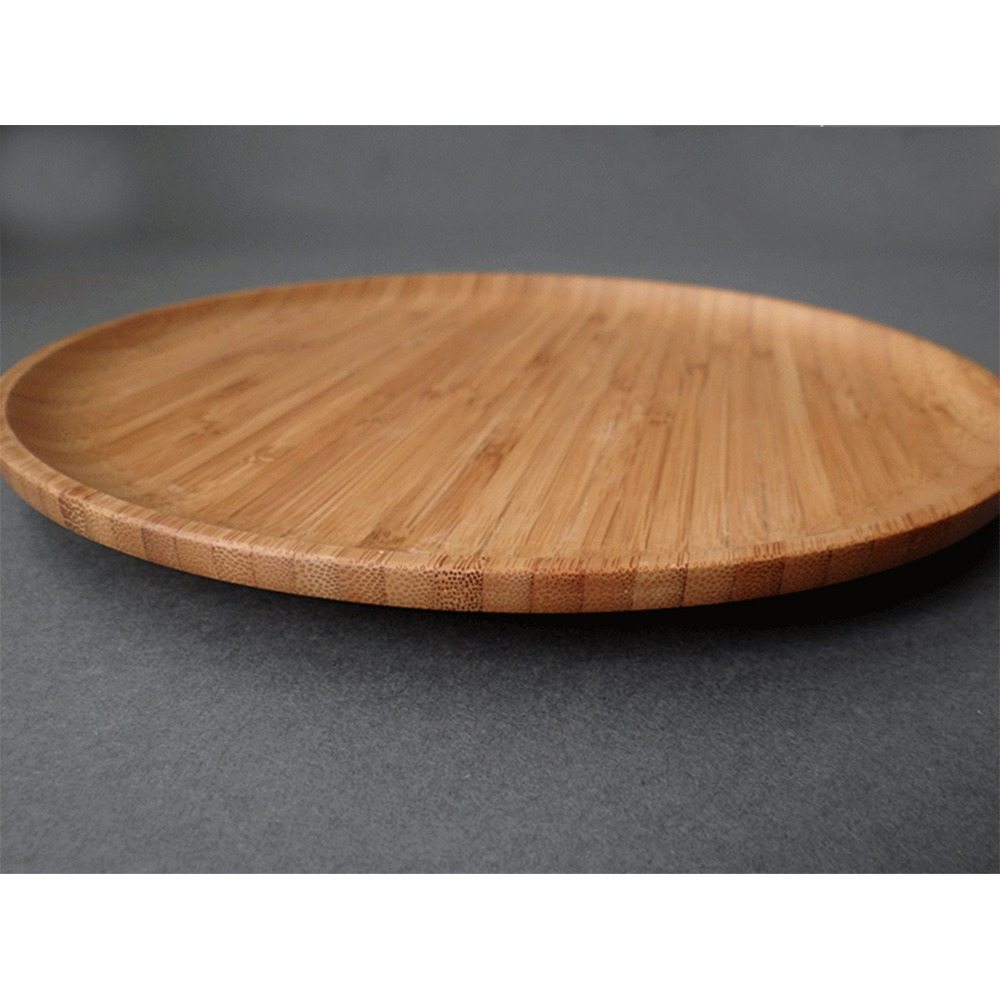 Beau New Round Non Slip Bamboo Tray Large Breakfast Serving Table Tea Drink  Wholesale Circular 26cm Diameter In Coffee U0026 Tea Sets From Home U0026 Garden On  ...