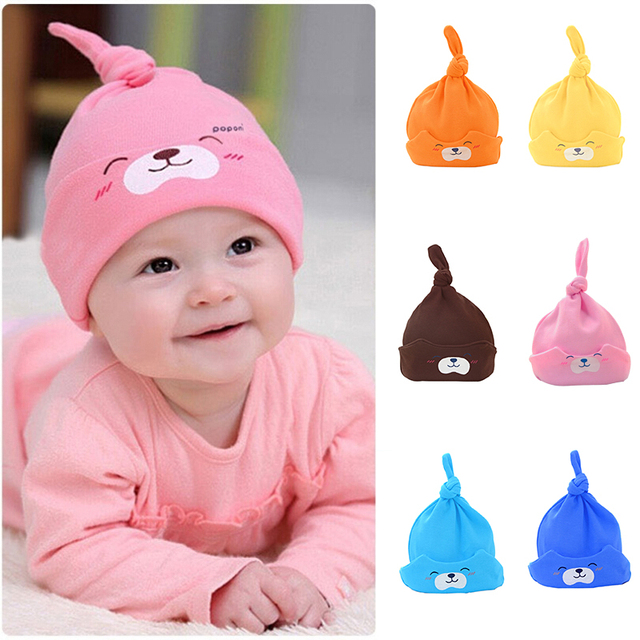 a48bbb87995 Hot sell spring autumn new cute soft cartoon baby Hat Newborn Sleeping Hat  Baby Cute Cartoon