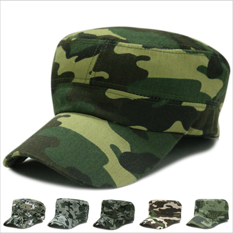 Military Hat New Sun Hat Male And Female Camouflage Flat Hat Sports Club Cap Hat