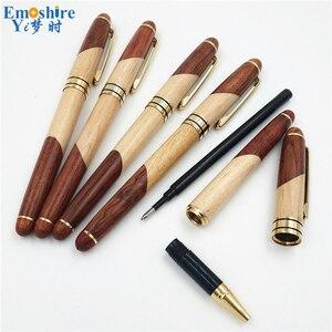 Image 4 - Emoshire Vulpen Beste Kwaliteit Potlood Gevallen Luxe Balpennen Klassieke Wieden Geschenken voor Man Hout Briefpapier P220