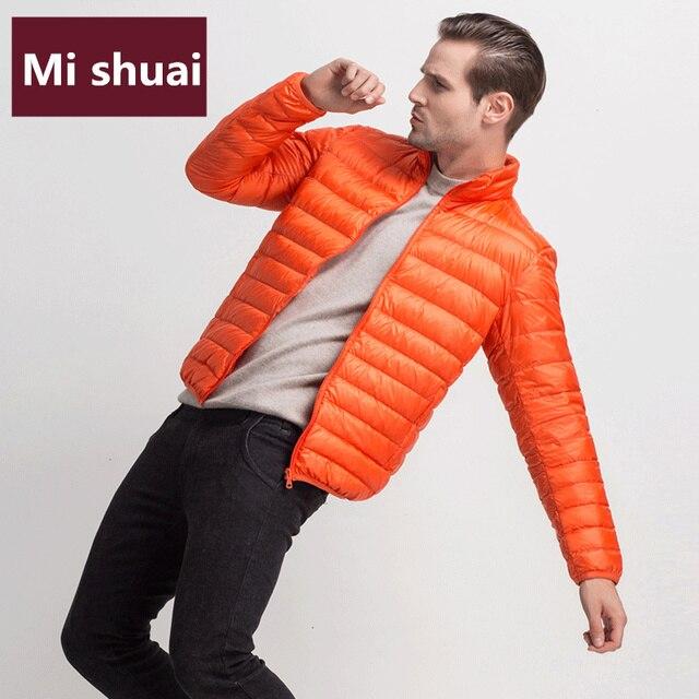 12 Color 2017 New Winter Ultralight Men 90% White Duck Down Jackets Winter Coat for Men Casual Down Parkas Plus Size Outerwear