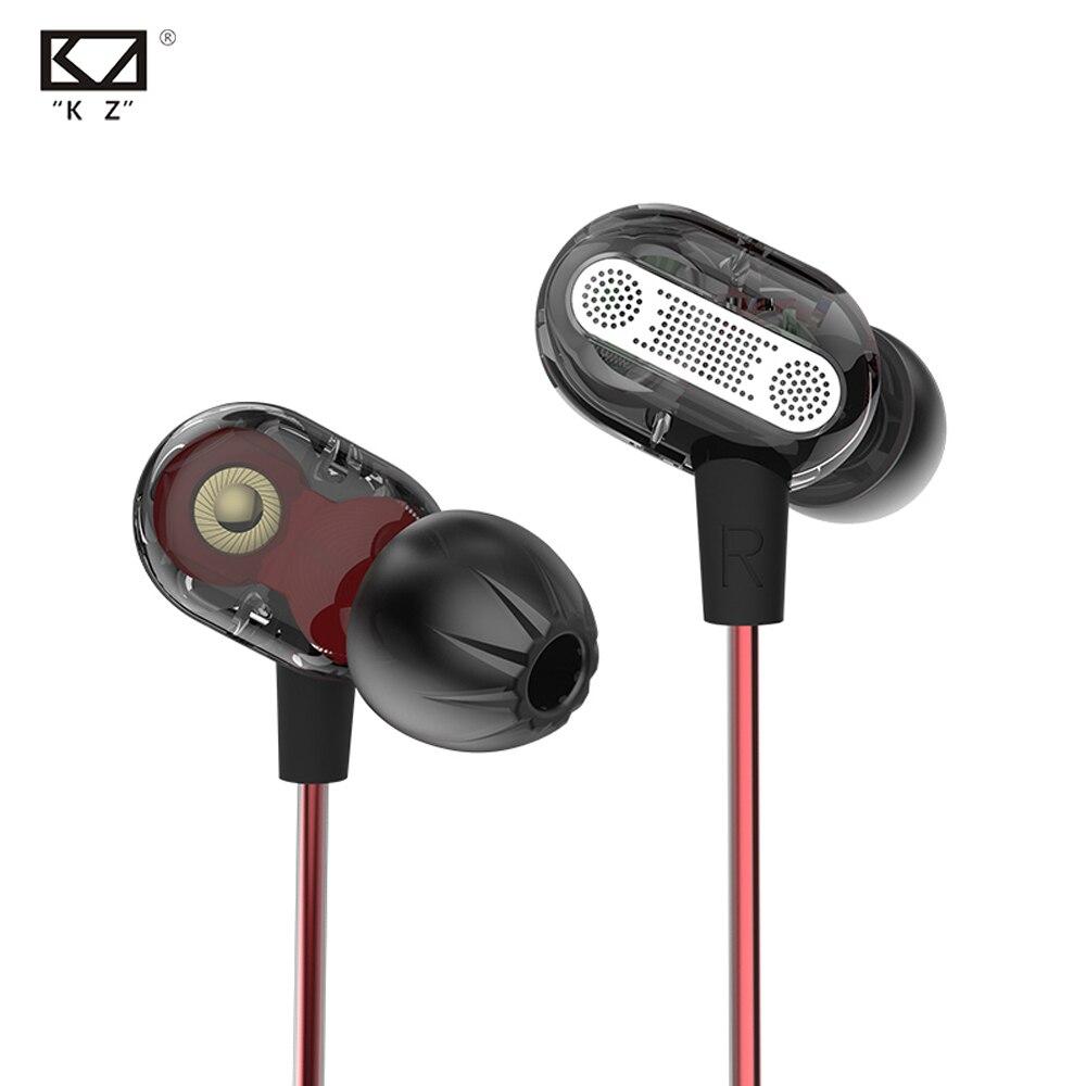 Newest KZ ZSE Double Unit Drive In Ear Earphone Bass Subwoofer Earphone HIFI DJ Monito Running Sport Earphone Headset Earbuds