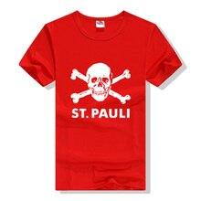Brand Clothes ST.PAULI Skull Death Squads Mark Men's T-Shirt Skull Men Short Sleeve Slim Casual Cotton T Shirt free shipping