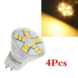 4x MR11 4W G4 15 SMD 5630 LED Energy Saving Spotlight Ampoule 12V blanc chaud New