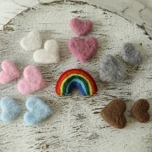 Newborn Photography Props Baby Photo Props Accessories Felted Wool Rainbow Love Heart fotografia(China)