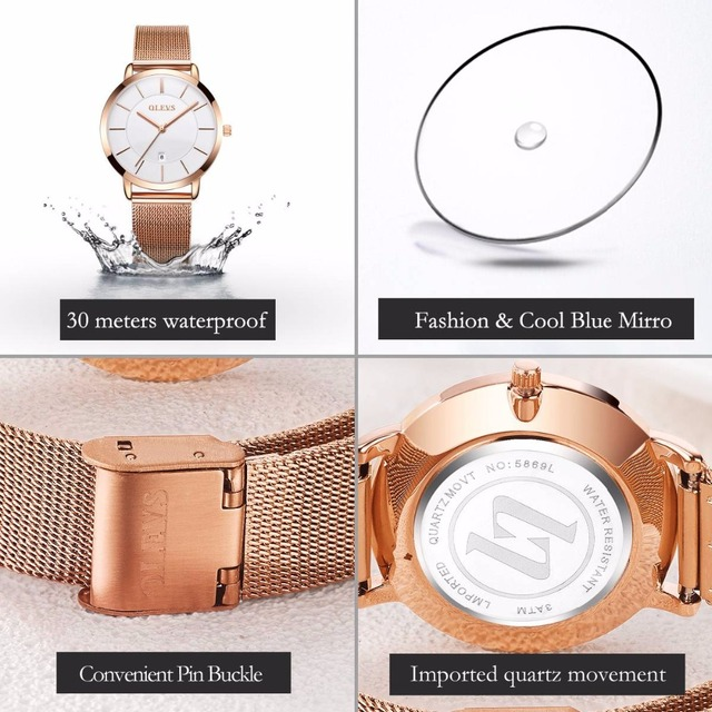 Wrist Watches for Womens with Mesh Band