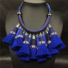 Grandes collares gruesos 2016 cuerda de cuero del ahogador collar indio boho collier ethnique indian tribal de la joyería maxi collar