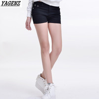 YAGENZ 15 Colors Denim Shorts Female Korean Version Elasticity Color Pencil Pants Summer Women Candy Color