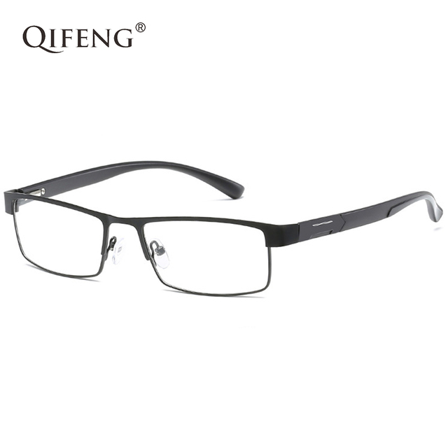QIFENG Reading Glasses Men Women High Quality Diopter Presbyopic Male Degree Eyeglasses +1.0+1.5+2.0+2.5+3.0+3.5+4.00 QF073