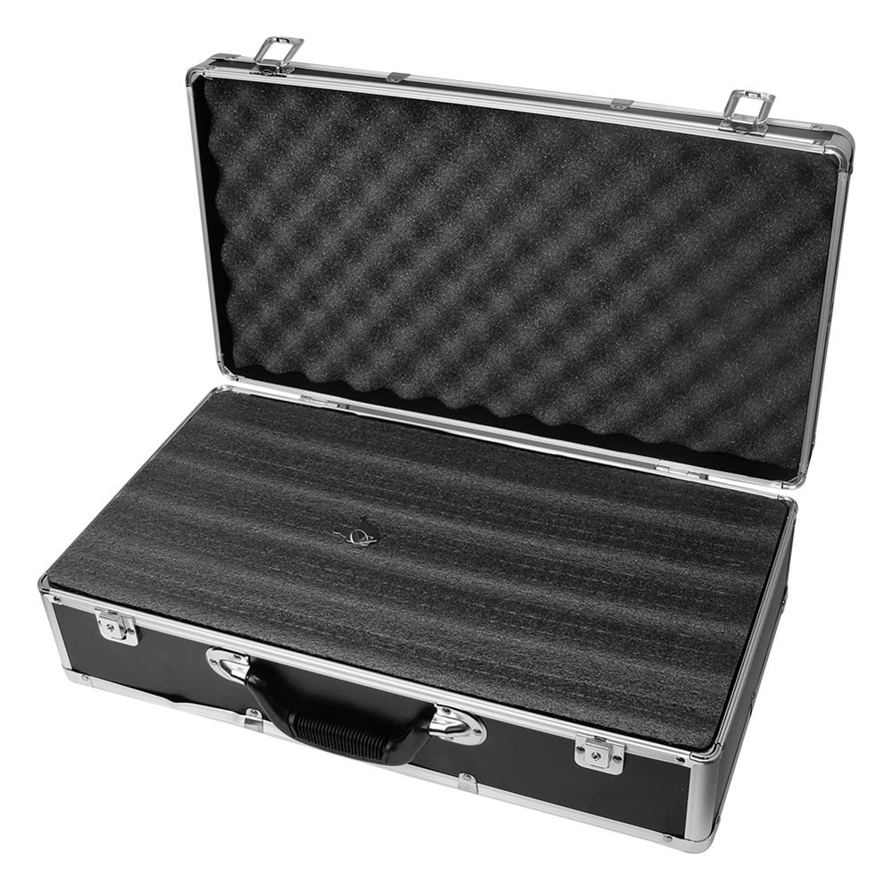 50x27x12.5cm Portable Safety Equipment Instrument Case Aluminum Alloy Tool Box Outdoor Safety Equipment Suitcase