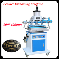 300 400mm Leather Embossing Machine Pneumatic Gold Hot Stamping Machine Die Indentation ZY 819M