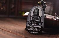 China Genuine Natural obsidian big day, if Buddha pendants,