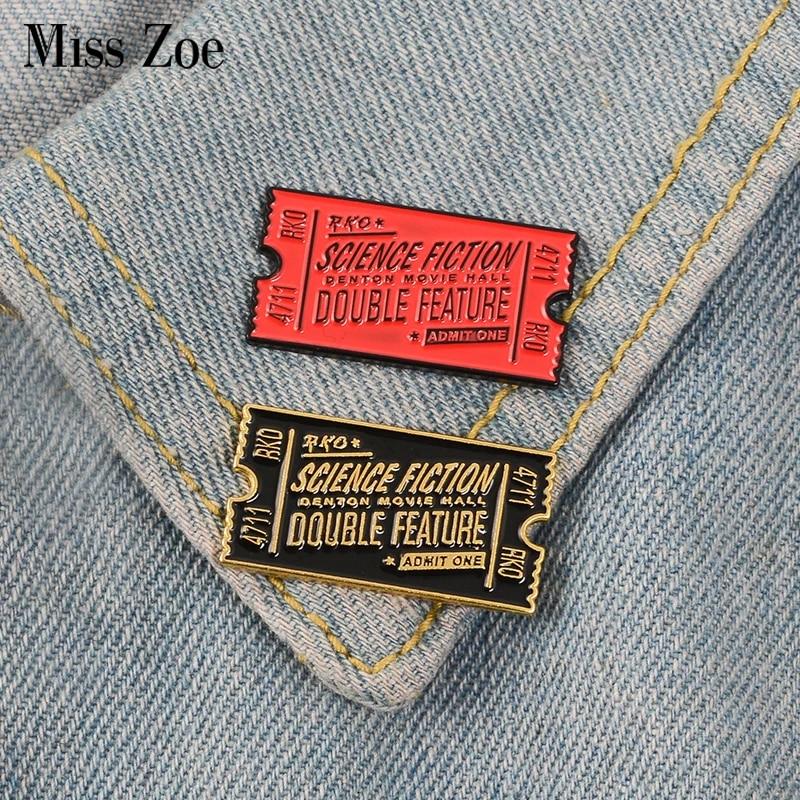 Retro Rocky Horror Enamel Pin Movie Ticket Brooches Badges Jewelry HOT Kzx