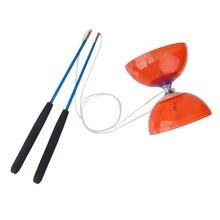 Kit de filature de jonglage Diabolo à 5 roulements avec baguettes et ficelle rouge
