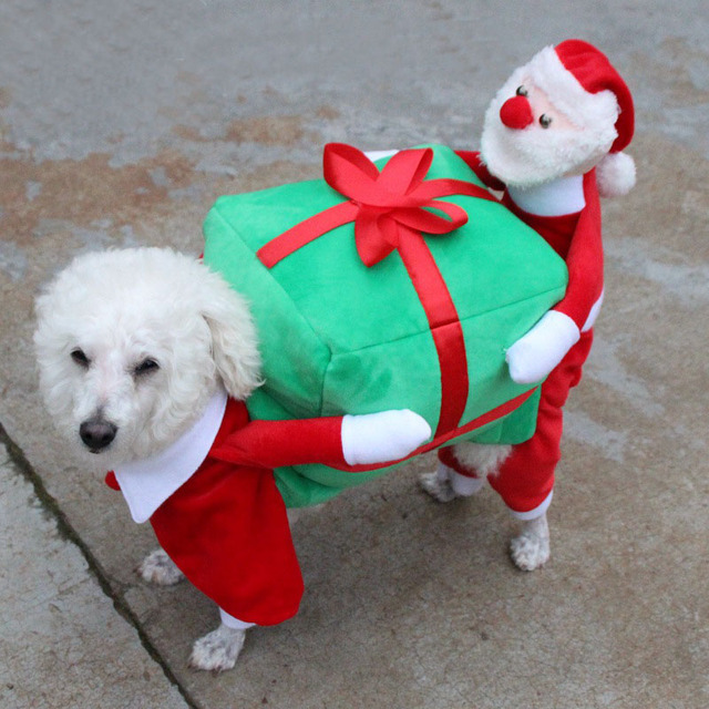 Fashion Christmas Gift Box Winter Dog Clothes Christmas Clothes Pet Dog  Clothing for Small Dogs Santa Claus Costume Outwear Coat - Fashion Christmas Gift Box Winter Dog Clothes Christmas Clothes Pet
