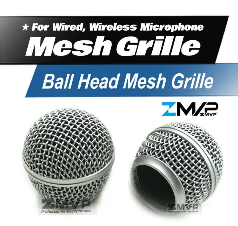 Livraison Gratuite!! haute Qualité Remplacement Rotule Mesh Grille Microphone Accessoires pour Shure BETA58 BETA58A SM58 SM58S SM58LC